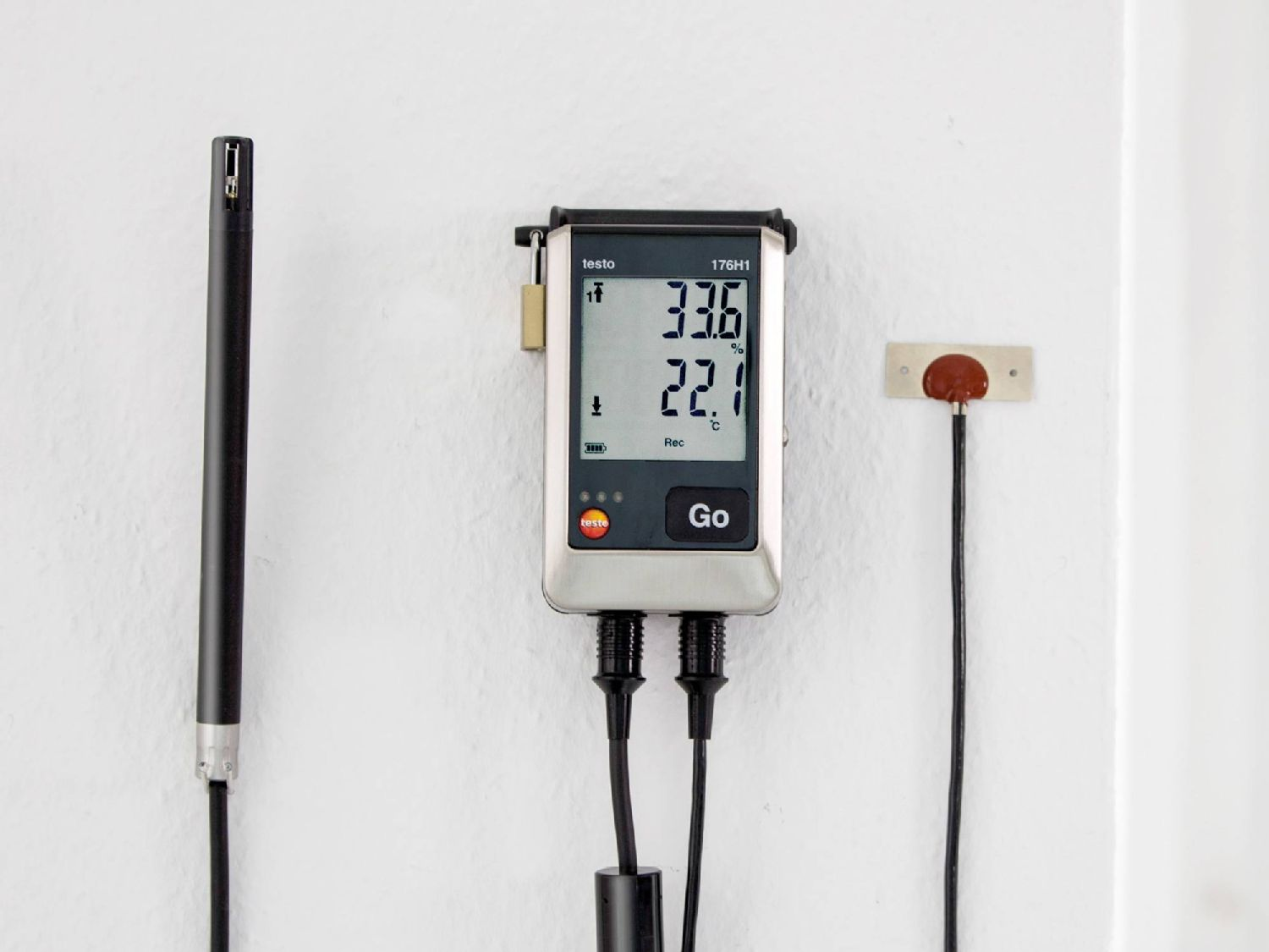 Pressure recording with data loggers