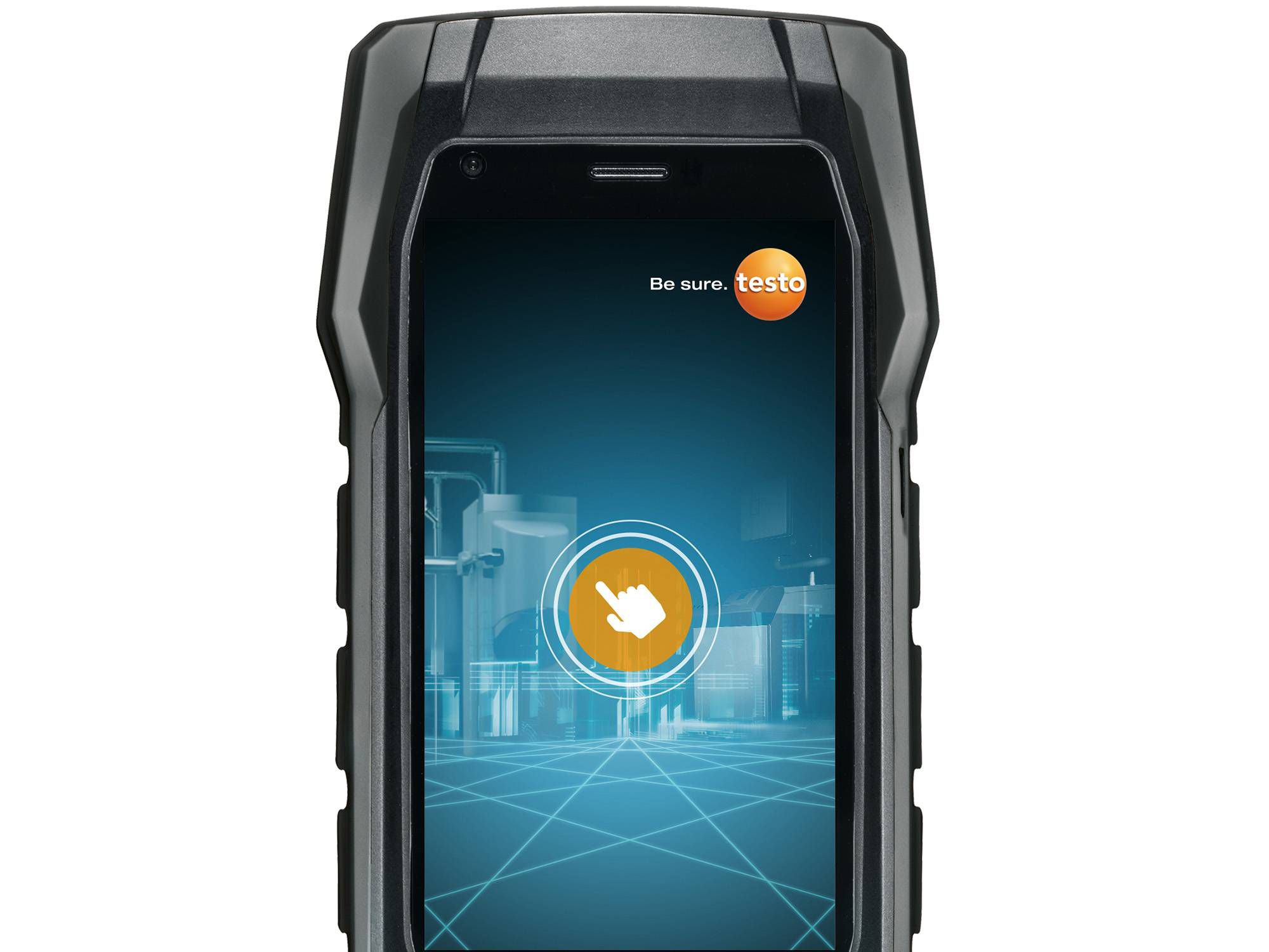 Flue gas analyzer operated with your smartphone