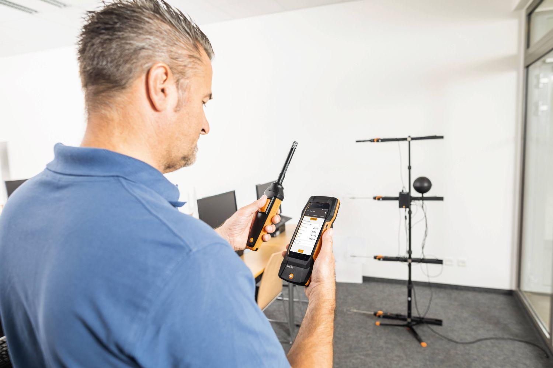 aplicación testo 400 Medidor para climatización universal