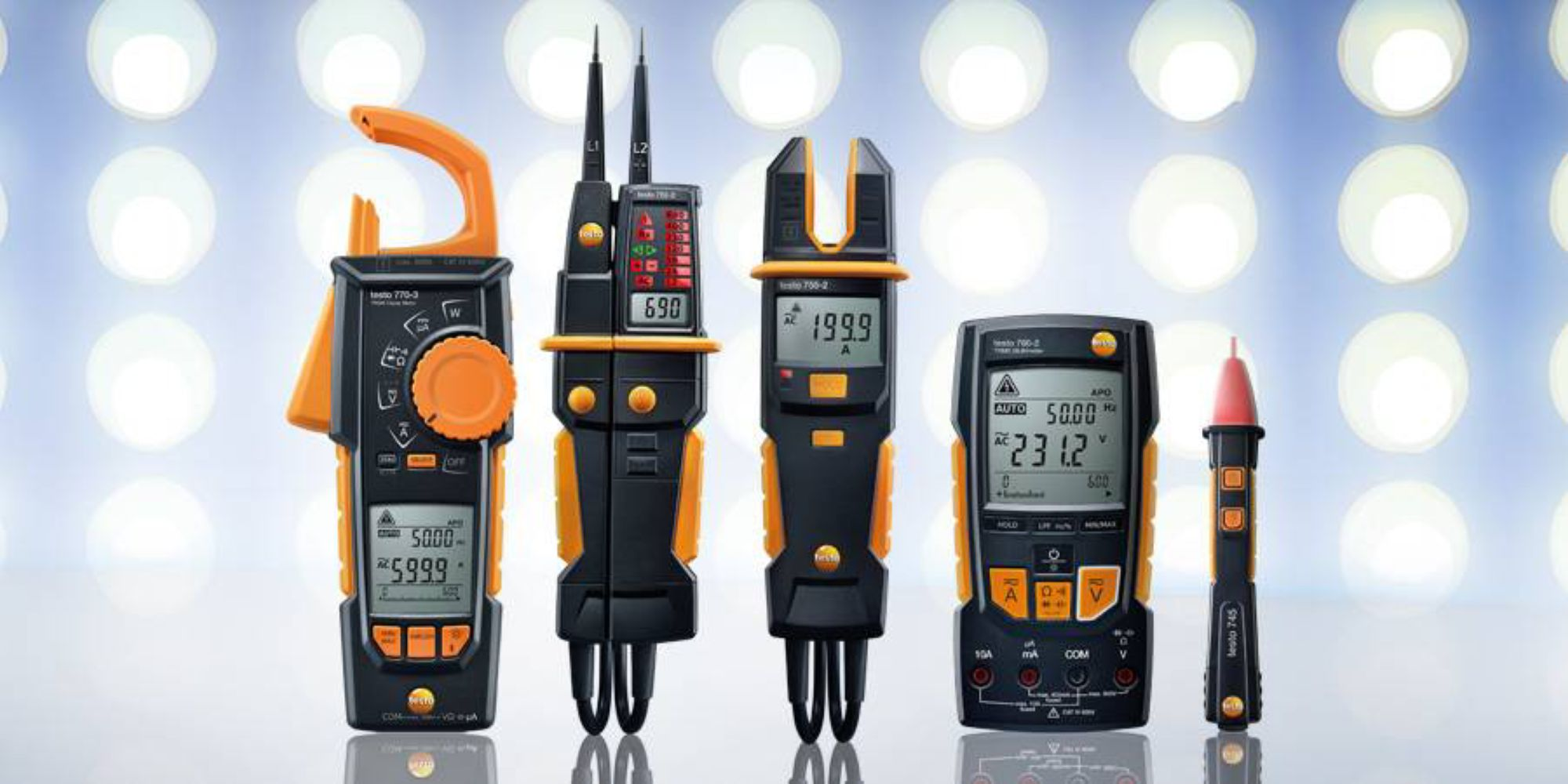 Electrical measuring instruments from Testo