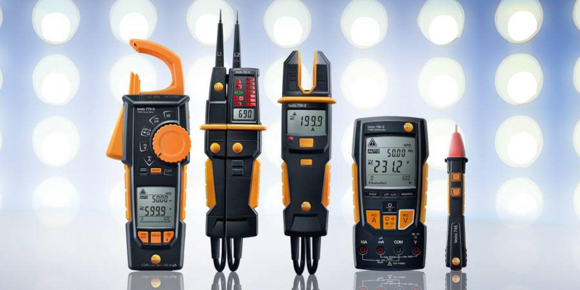 Les appareils de mesure électrique de Testo