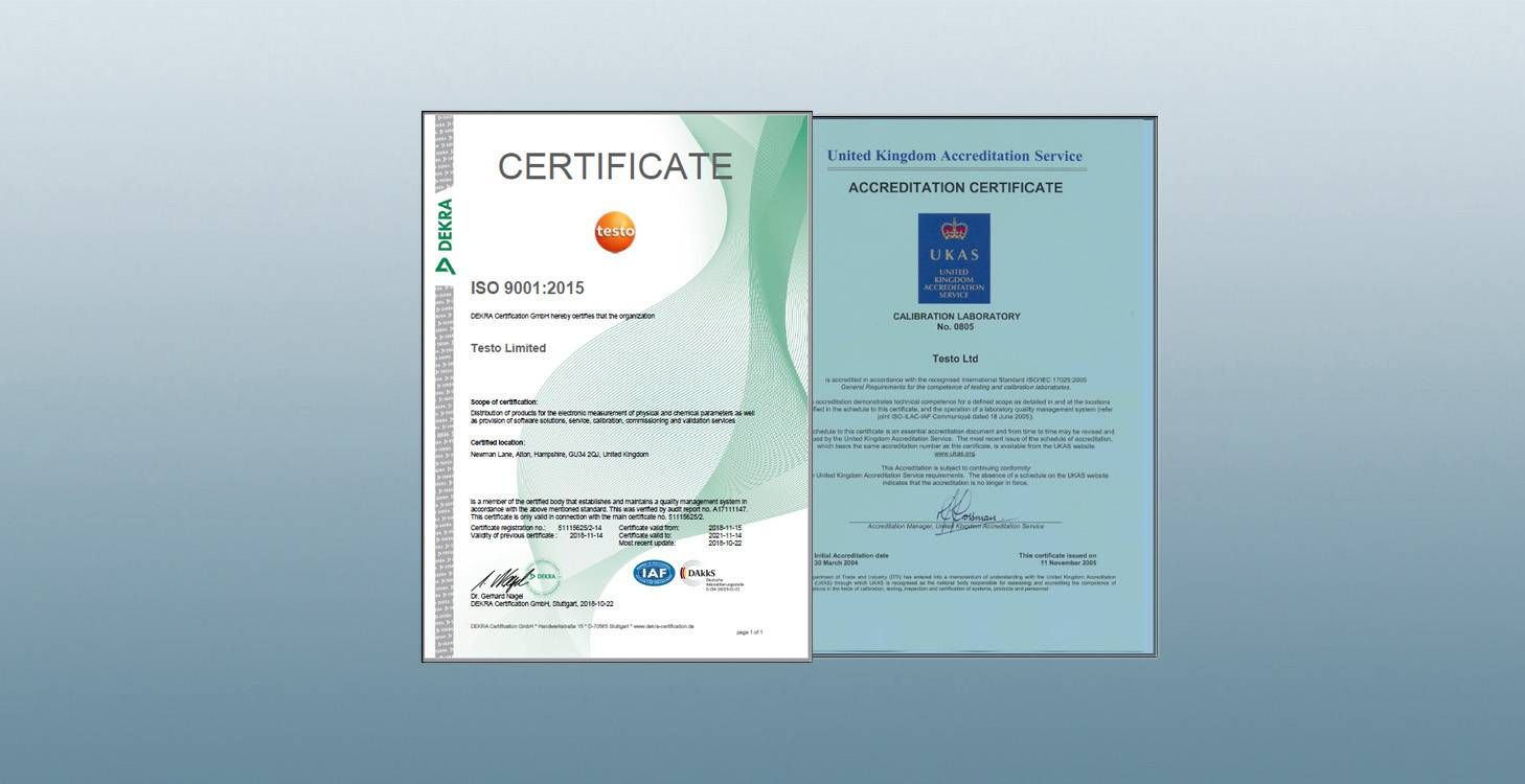UKAS and ISO Quality Certificates