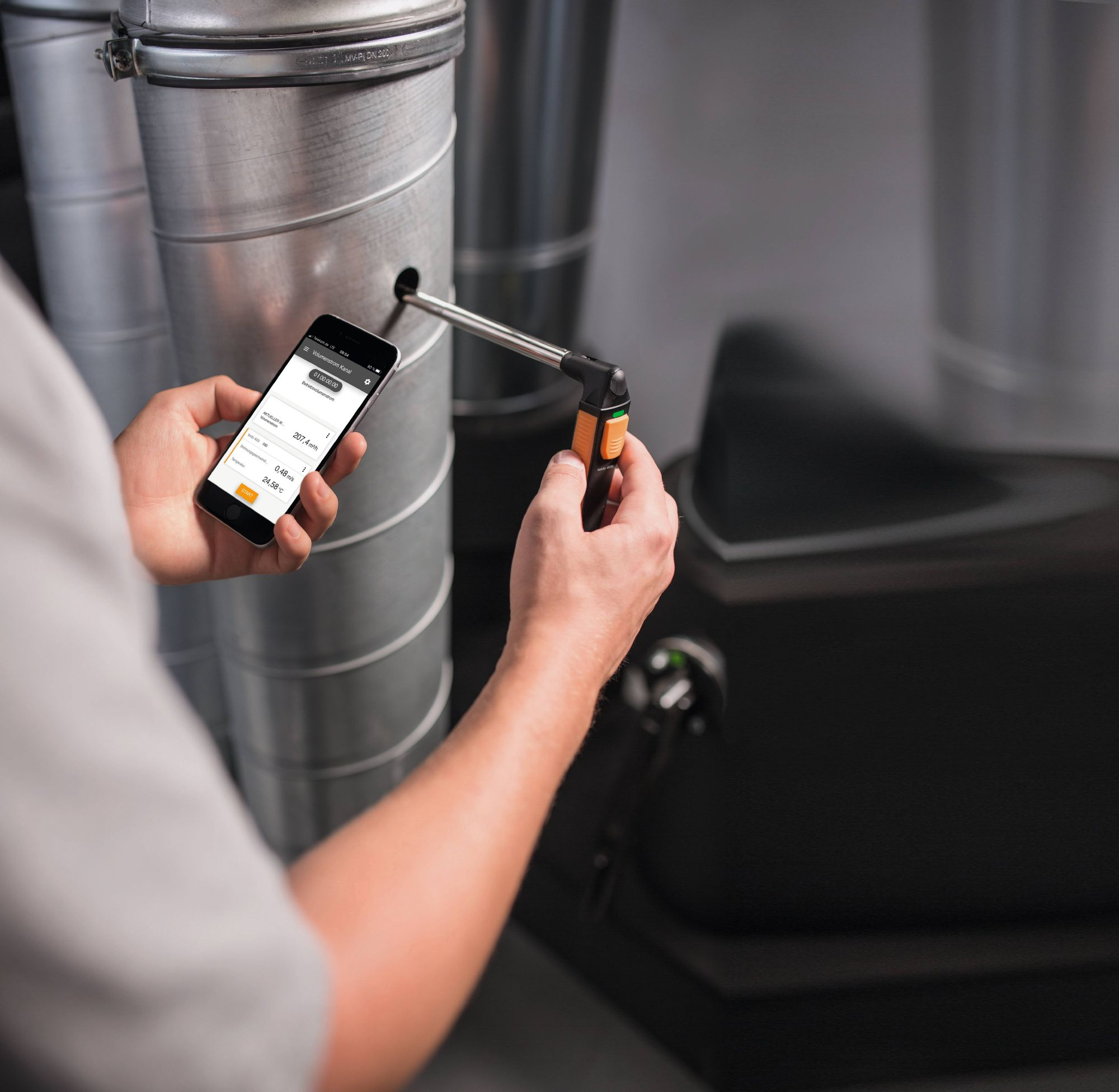 testo 405i – Thermal anemometer operated with your smartphone