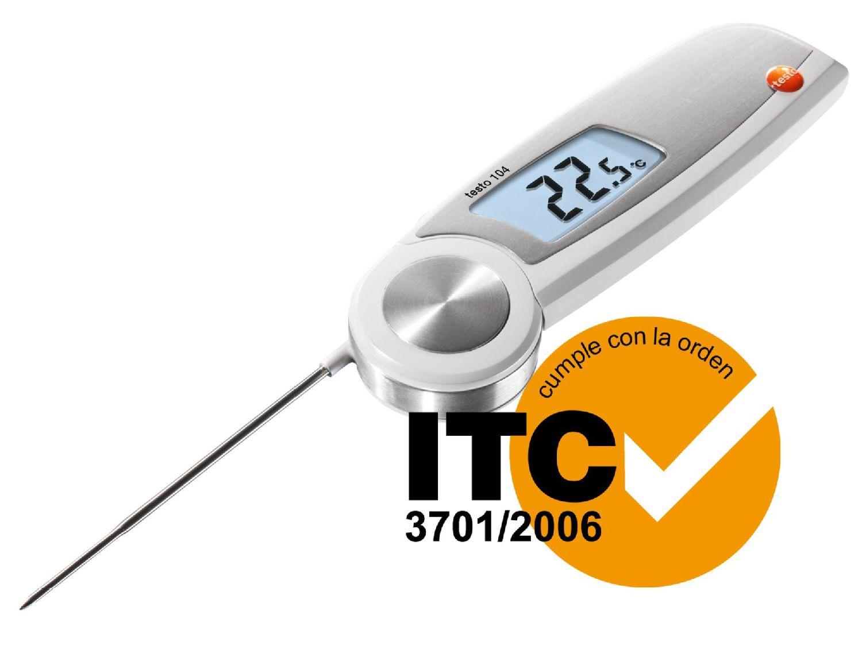 Termómetro para alimentación testo 104