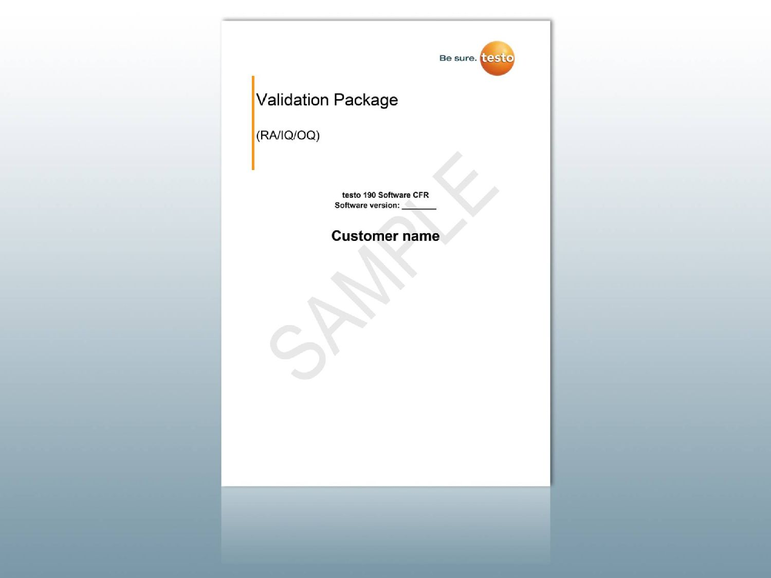 Validation package testo 190 CFR software