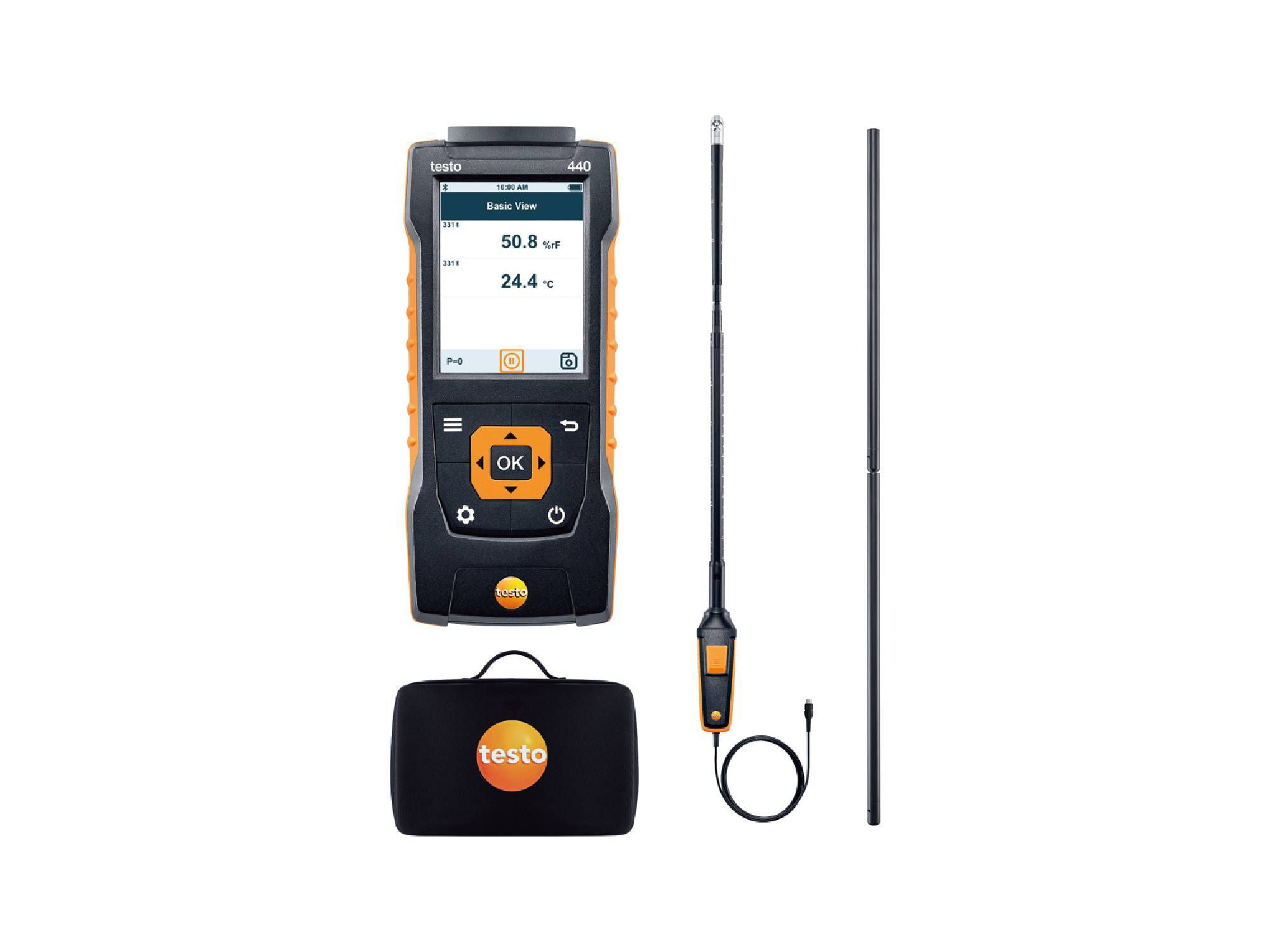 testo440 Air Flow ComboKit 1 with Bluetooth®t 1 with Bluetooth