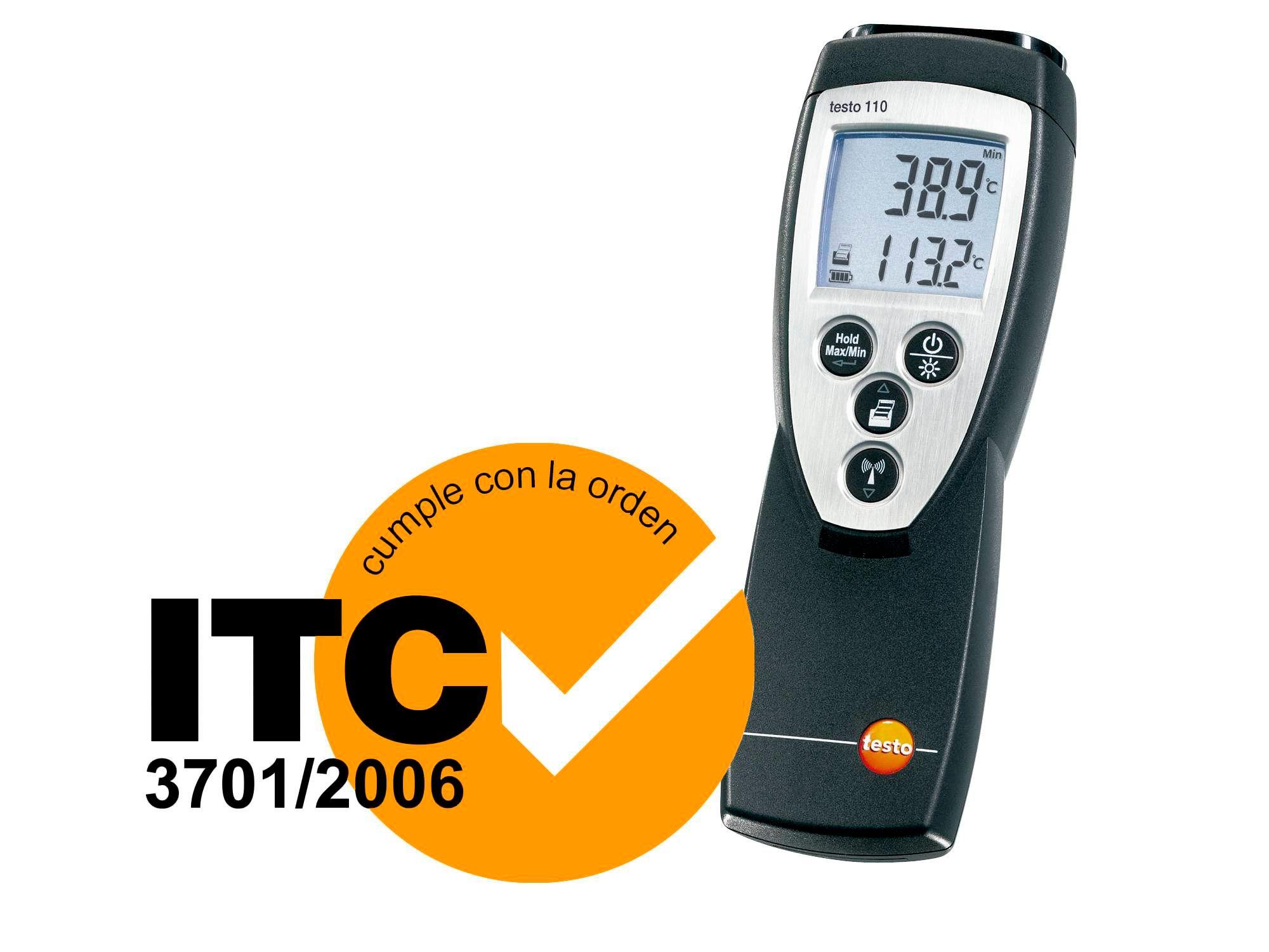 Termómetro homologado ITC testo 110