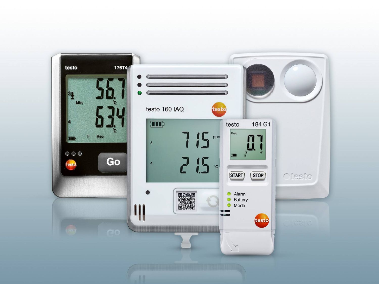 Data logger para CO₂ , temperatura, umidade, UV e impactos